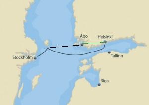 Kort Over Kor Selv Ferie Til Abo Og Helsinki Tallink Silja Line