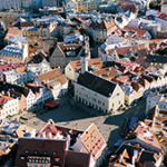 Tallinn ved rådhuspladsen set ovenfra |Tallink Silja Line