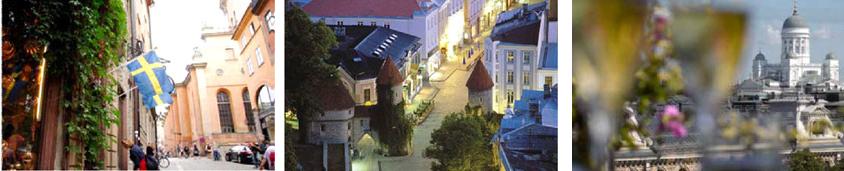 Besøg tre hovedstæder på et Cruise: Stockholm - Tallinn - Helsingfors - Stockholm