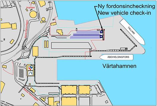 ny checkin til køretøjer ved Talllink Silja Line